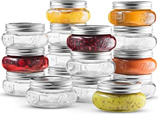 Ball Wide Mouth Mason Jar 8 oz [16 Pack] With Airtight lids and Bands - For Canning, Pickling And Preserving, Jams, Sauces...
