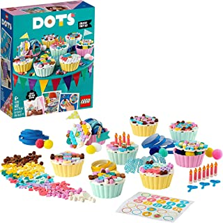 LEGO 41926 DOTS Creative Party Kit with Cupcakes, Birthday Gift Set DIY Projects, Arts and Crafts for Kids