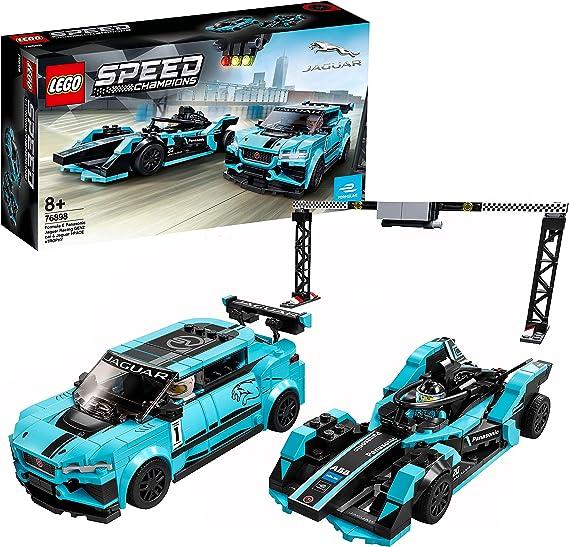 LEGO 76898 Speed Champions Formula E Panasonic Jaguar Racing GEN2 Car & Jaguar I-Pace eTROPHY, Coches de Juguetes para Niños