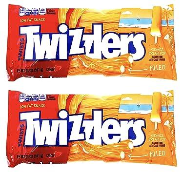 Twizzlers Creamsicle Dreamsicle Popsicle naranja crema Pop relleno Twists (2 unidades)