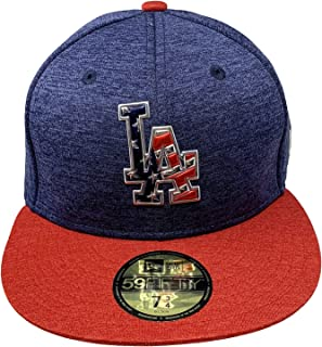 New Era Los Angeles Dodgers 2017 4th of July Stars & Stripes On Field Baseball Hat 59Fifty Fitted MLB Caps