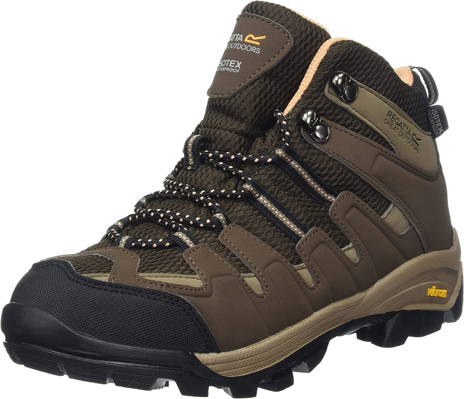 Regatta Womens Womens Ladies Lady Burrell Fabric Lace Up Walking Boots Polyester