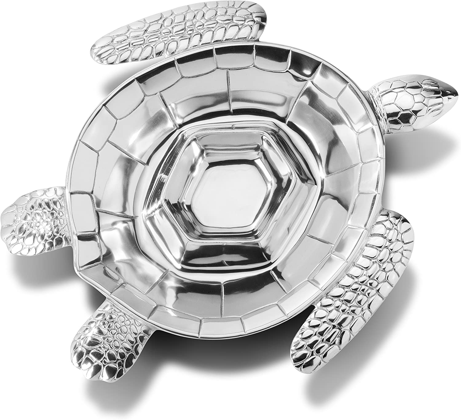 Wilton Armetale Sea Life Turtle Divided and Chip Dip Portland Mall Server Limited price sale