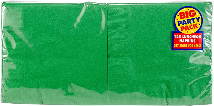 Big Party Pack Festive Green Luncheon Napkins   Pack of 125   Party Supply