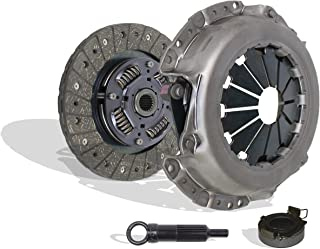 Clutch Kit Works With Toyota Mr-2 Celica Corolla Tercel Geo Prizm Base GSi LSi ST DLX 1990-1992 1.6L l4 2.2L l4 GAS DOHC Naturally Aspirated (VIN A 4AFE; VIN A 4AGELC; Vin E 3E; VIN 5)