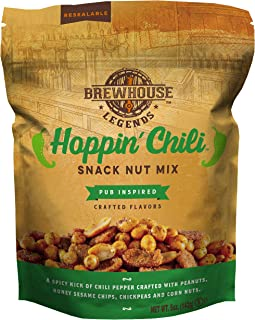 Brewhouse Legends Hoppin' Chili Snack Nut Mix, 5 Ounces, Pack of 6