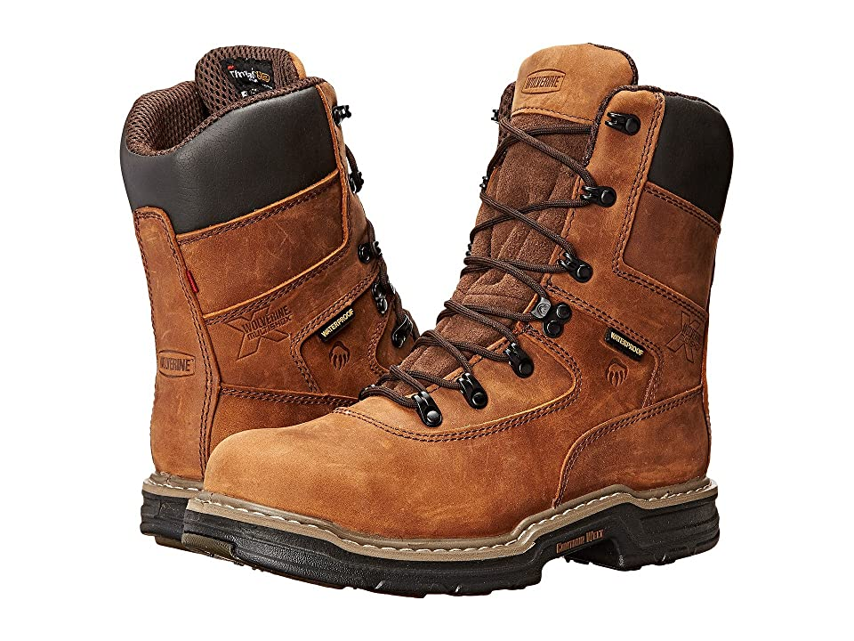 Wolverine Marauder Multishox Waterproof 8 Steel Toe Boot (Brown) Men's Work Boots
