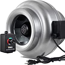 iPower GLFANXINLCTR12 12 Inch 1060 CFM Duct Inline HVAC Exhaust Blower Ventilation Fan with Variable Speed Controller, 12