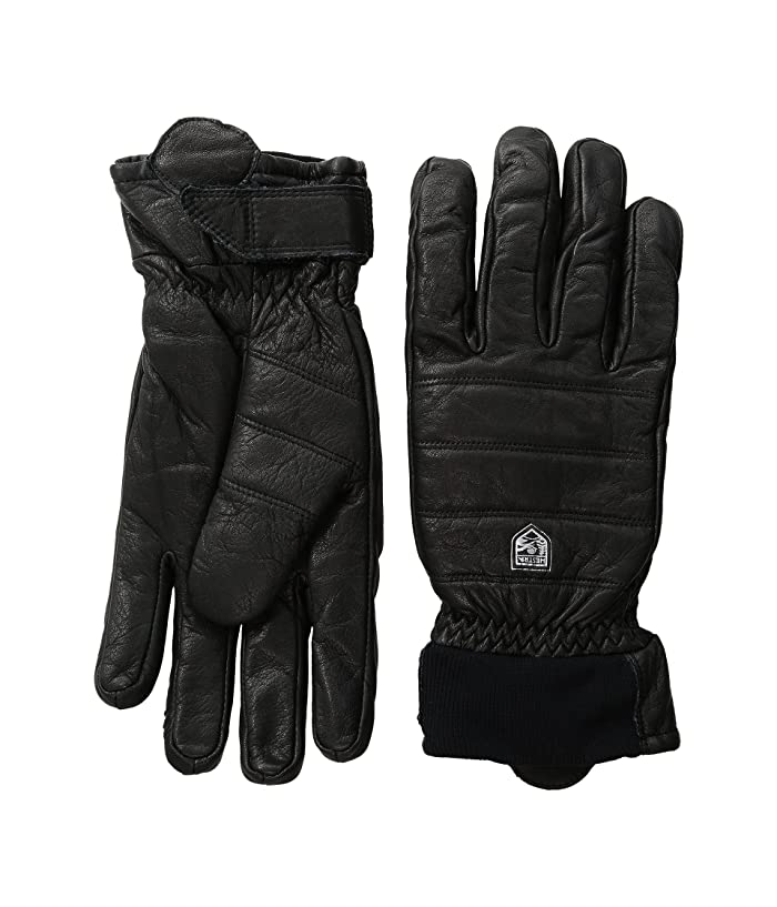 Hestra Alpine Leather Primaloft (Black) Ski Gloves