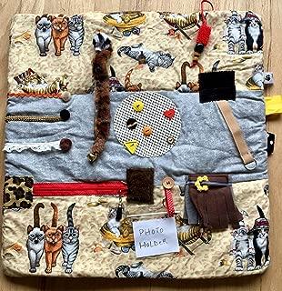 Fidget Blanket for Dementia | Fidget Quilt | Alzheimer's Blanket | CATS ON THE BEACH || by Restless Remedy