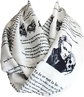 Etwoa's Shakespeare Hamlet Book Infinity Scarf Circle Loop Scarf