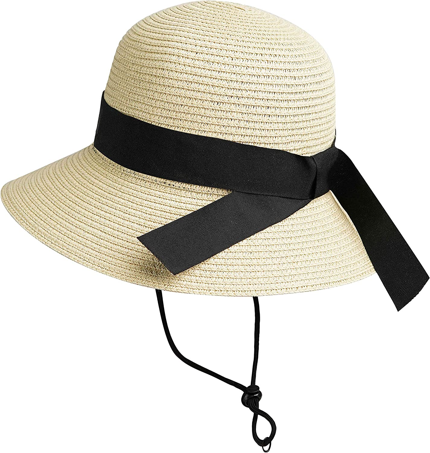Girls Wide-Brim Straw Sun-Hat for Summer 17 Tucson Mall Bow Beach 9 to with San Diego Mall