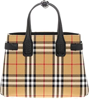 Women's Small Banner in Vintage Check and Leather Black