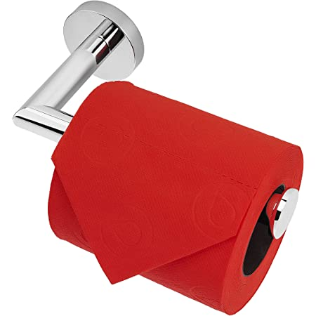 HITSLAM Porte Rouleau Papier Toilette Acier Poli, Support Papier Toilette Mural pour Salle de Bain, Acier Inoxydable SUS 304, Derouleur Papier Toilette WC (Acier Poli)
