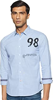Colt by Unlimited Men's Plain Regular Fit Casual Shirt