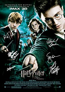 Harry Potter And The Order Of The Phoenix Movie Film Poster With Autographs Signed Print