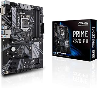 ASUS Prime Z370-P II LGA1151 (Intel 8th and 9th Gen) ATX DDR4 HDMI DVI M.2 USB 3.1 Gigabit LAN