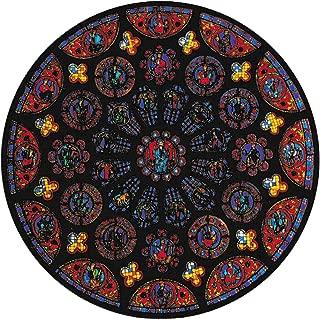 Winged Heart ステンドグラス シール 教会 シャルトル大聖堂 バラ窓 静電気接着 約14cm