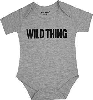 Silly Souls, Inc Wild Thing Unisex Toddler Baby Cotton Onesie, Grey