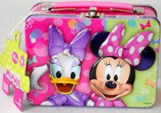 Disney Junior Minnie Mouse & Daisy Duck Puzzle Tin/Mini Carry-All with 24 Piece Puzzle