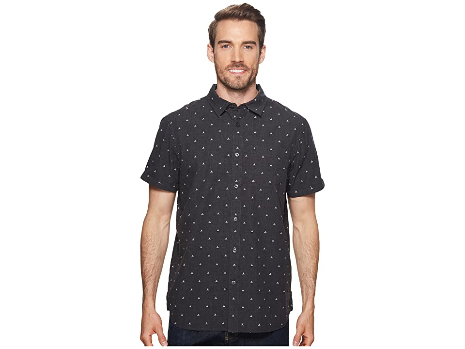 The North Face Short Sleeve Bay Trail Jacquard Shirt (Weathered Black Heather/Tent Clip Dot) Men