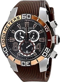 MULCO Unisex MW1-74197-035 Analog Display Swiss Quartz Brown Watch