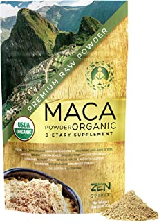 Maca Powder Organic - Peruvian Root Premium Grade Superfood (Raw) - USDA & Vegan Certified - 226.7g (8oz) - Perfect for Br...