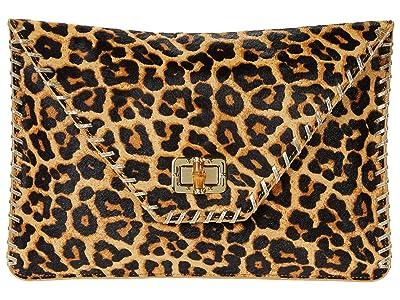 Lilly Pulitzer Celina Leopard Print Clutch (Multi Leopard Haircalf) Clutch Handbags