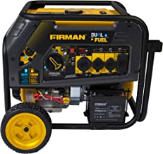 Firman H08051 10000/8000 Watt 120/240V 30/50A Electric Start Gas or Propane Dual Fuel Portable Generator CARB Certified