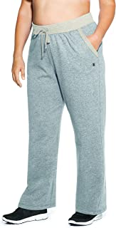 Champion Women's Plus Size Fleece Open Bottom Pant