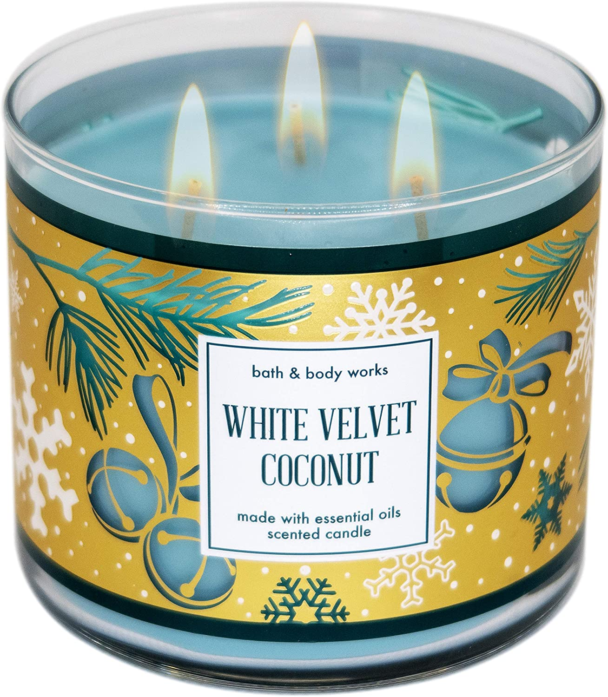White Austin Mall Barn Bath 40% OFF Cheap Sale Body Works 3-Wick - Candle w 14 Oils Essential