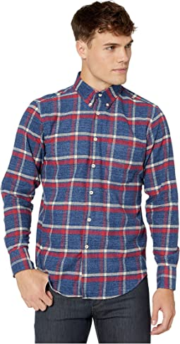 Northern Brushed Flannel - Blue/Red