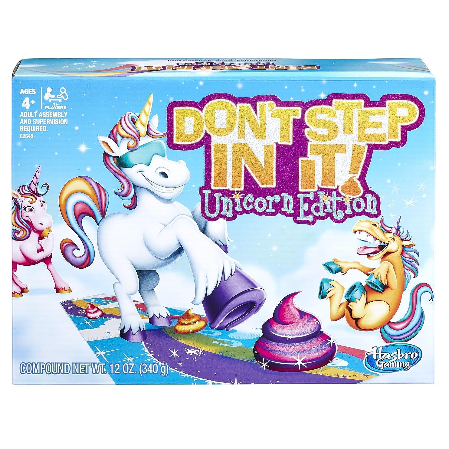 Hasbro Gaming Don't Step In It Game, Unicorn Edition (Amazon Exclusive) iyhykumxtem33