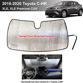 YelloPro Custom Fit Automotive Reflective Front Windshield Sunshade Accessories UV Reflector Sun Protection for 2018 2019 ...
