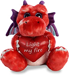 Aurora World Val Sayings Light My Fire Dragon Plush Animal, Multicolor, 12