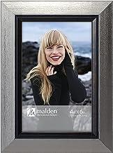 Malden International Designs 2351-46 Mason Silver w/Black Inner Border Picture Frame