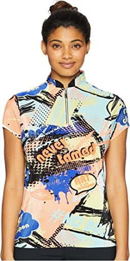 Crunchy Never Tamed Print Short Sleeve Top