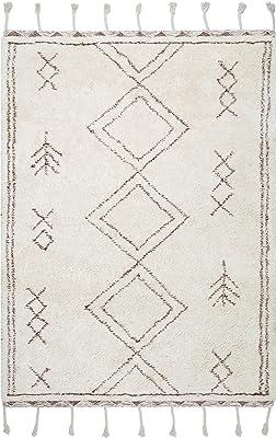 nuLOOM Twist Moroccan Shag Area Rug, 6' x 9', Beige