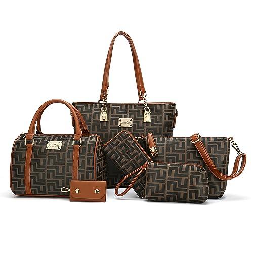Women 2 Handbags +1 Crossbody bag+1 Small Purse +1 Key holder + 168158cacb692