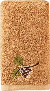SKL Home by Saturday Knight Ltd. Pinehaven Fingertip Towel, Wheat
