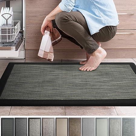 39 x 20 x 0.75 Colorful Memory Foam Comfort Mat Great For Kitchen Bathroom iCustomRug Ergonomic Anti Fatigue Mat Workstation Mat in Florence Grey