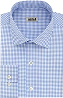 Men's Dress Shirt Slim Fit Checks and Stripes (Patterned)