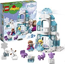 LEGO 10899 Duplo Disney Frozen Ice Castle Princess Elsa and Anna Mini Dolls and Snowman Figure Toys for 2 Years Old Girl and Boy
