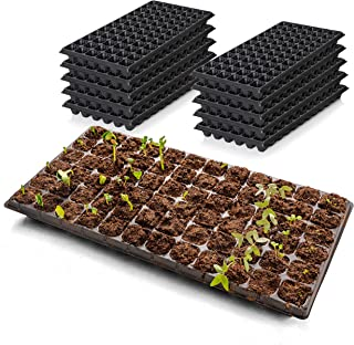 Sponsored Ad - 321Gifts, 10-Pack Seed Starter Kit, 2X Thicker 72 Cell Plastic Seedling Trays Gardening Germination Growing...