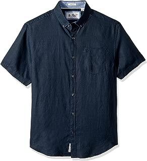 Men's Short Sleeve Washed Linen Shirt