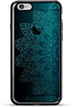 Luxendary Blue Mandala Design Chrome Series Case for iPhone 6/6S Plus - Titanium Black