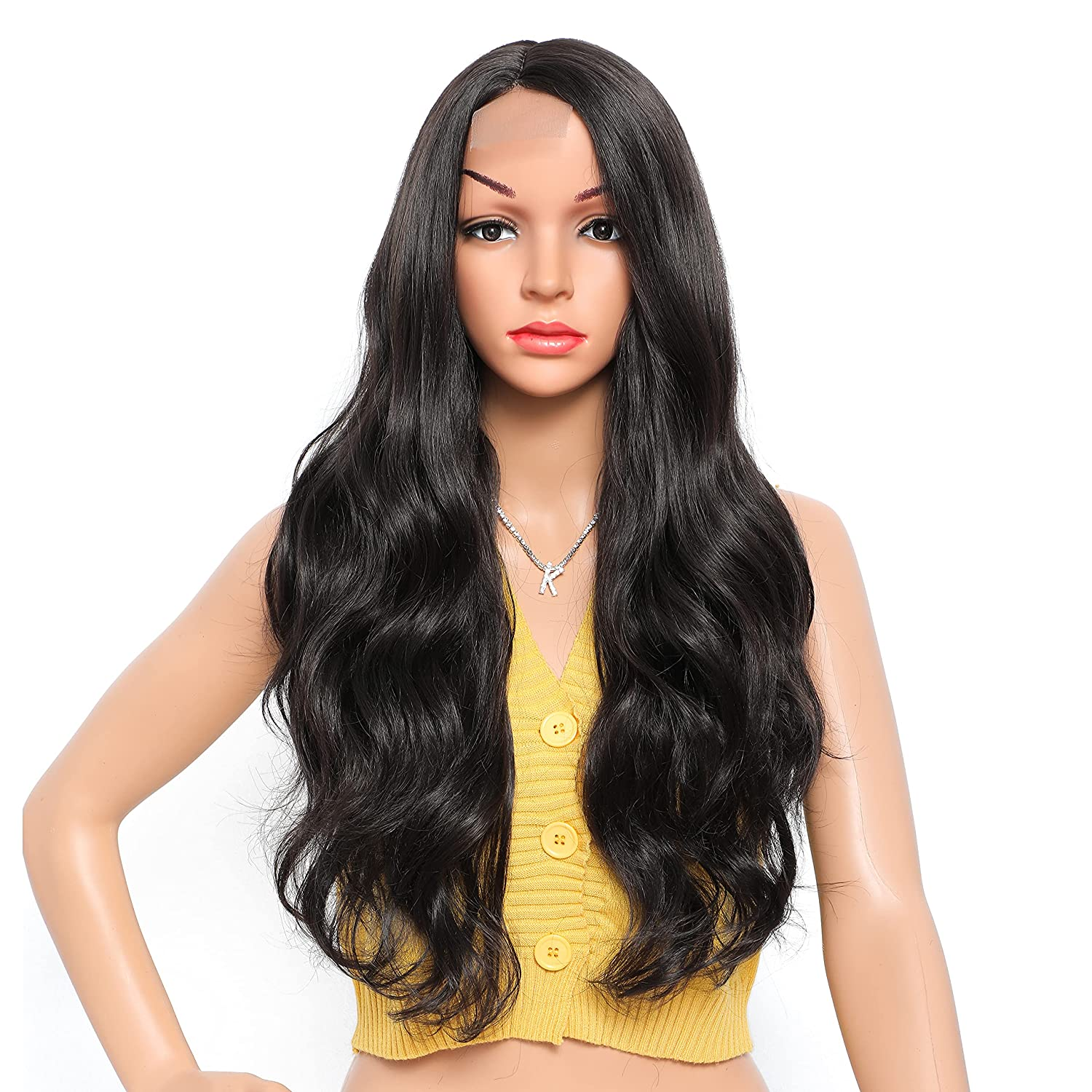 LuLu Haireate Long Wavy Soldering Wig Natural for Max 50% OFF Wigs Wom Synthetic Black