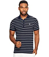 Scotch & Soda - Ams Blauw Regular Fit Indigo Polo with Chest Badge