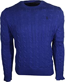 Men's Pony Cable Knit Crewneck Sweaters