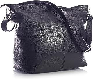 LiaTalia Women's Medium Hobo Shoulder Bag Genuine 100% Italian Leather Stylish & Elegant Design - ADAL